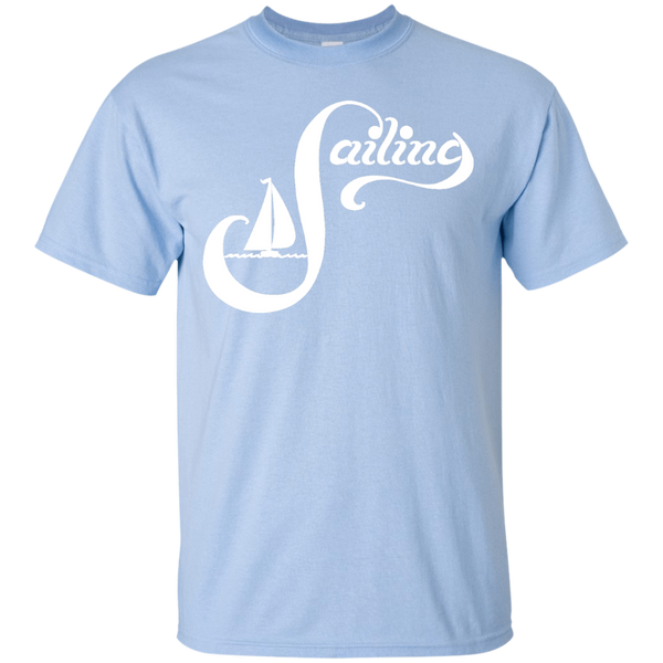 Sailing White on Custom Ultra Cotton T-Shirt