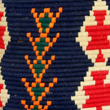 Close-up view of a colourful vintage berber bread basket
