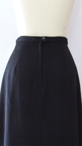 FLOWER POWER Vintage Alex Colman 60s Skirt with Tulip Applique, Size Small