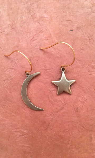 GASPARIAN Moon Star Earrings