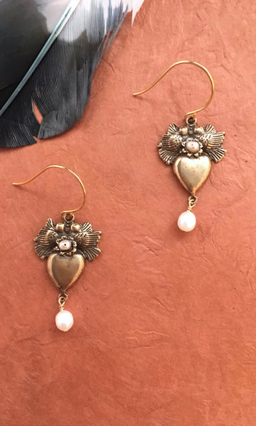 GASPARIAN Lovebird Pearl Earrings