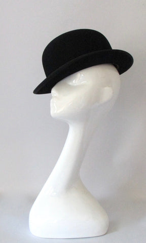 HARRODS OF LONDON  60s Derby Hat, English Bowler, Size 6 7/8