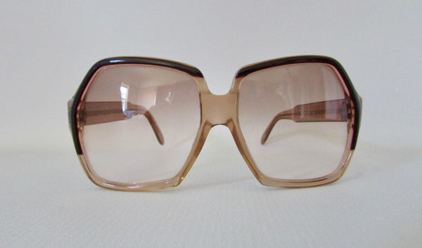 YVES SAINT LAURENT 70s Oversized Gradient Sunglasses Frames