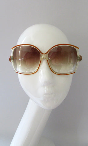 EMILIO PUCCI 70s Oversized Gradient Ombre Sunglasses, Made in France