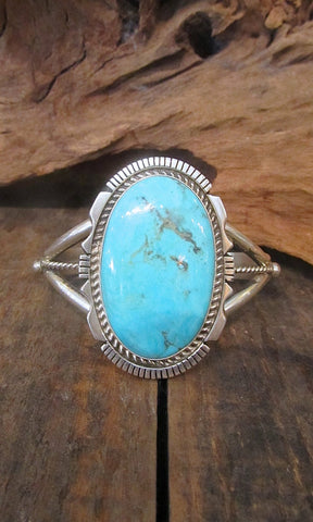 MY BABY BLUE Turquoise and Sterling Silver Navajo Cuff