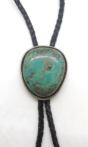 TURQUOISE ROCKS Chimney Butte Large Royston Turquoise & Sterling Silver Bolo Tie