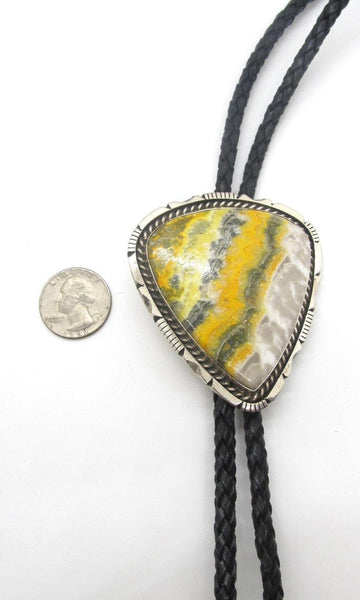 BEE MINE Chimney Butte Bumble Bee Jasper & Sterling Silver Bolo Tie