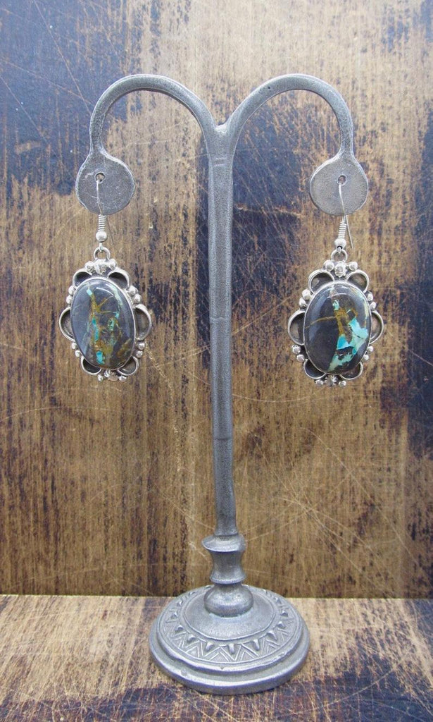 GET STONED Navajo Silver and Turquoise Earrings