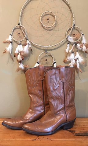 WESTERN FRONT 1960s Brown Acme Leather Cowgirl Boots, Sz 6