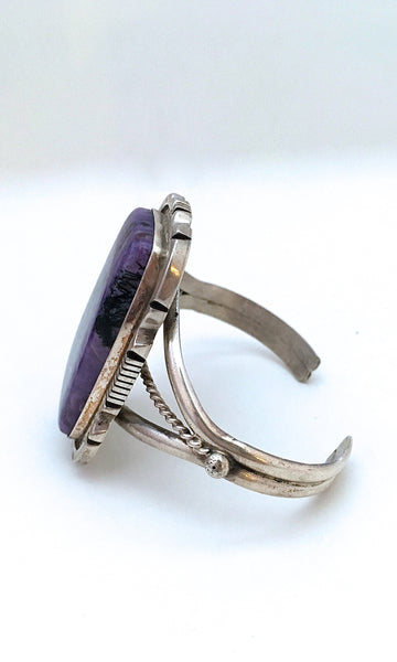 PURPLE HAZE Silver and Russian Charoite Cuff by ES
