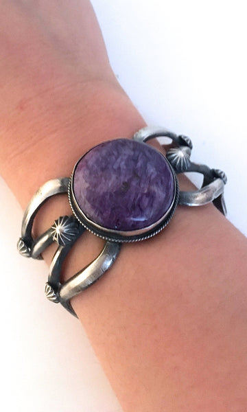 PURPLE RAIN Navajo Sterling & Charoite Cuff by Chimney Butte