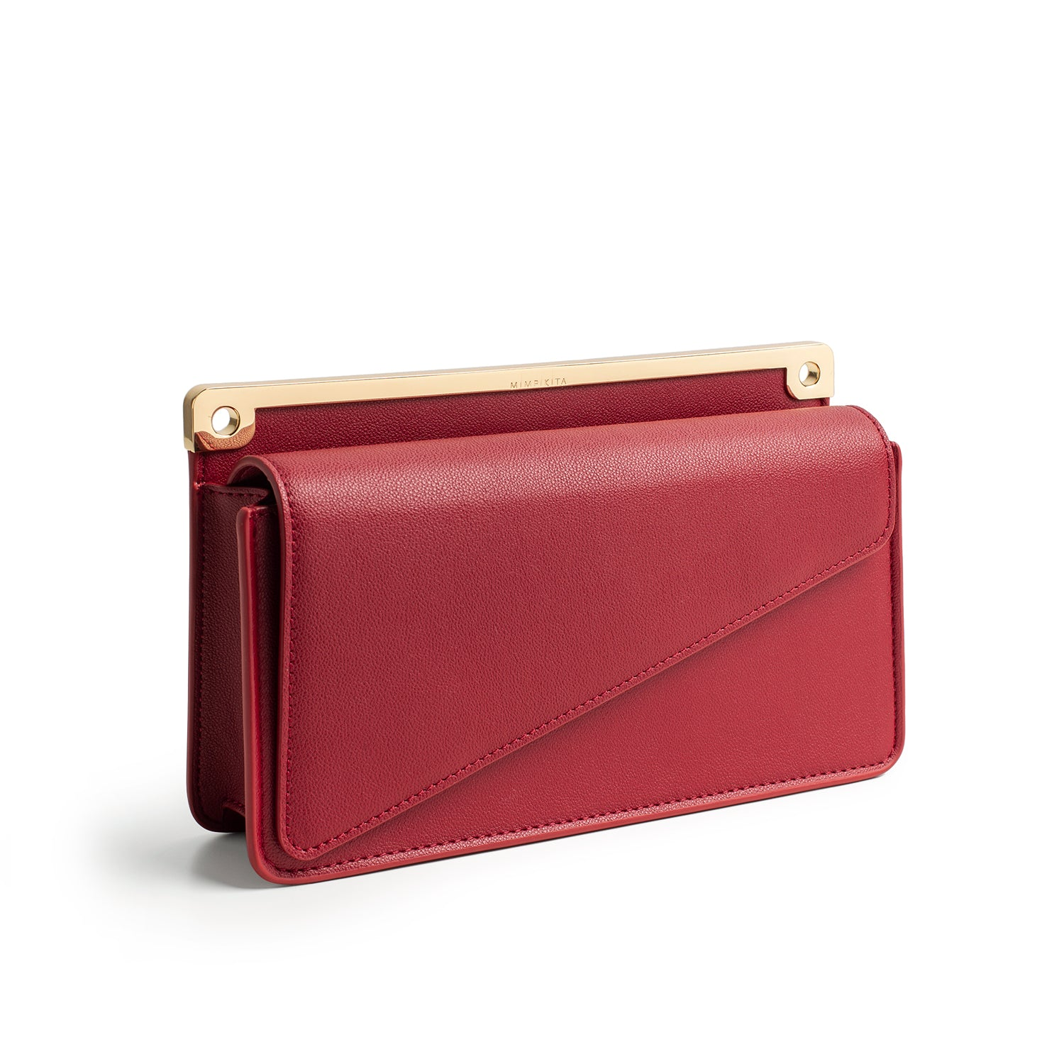 KITA CLUTCH - WINE RED