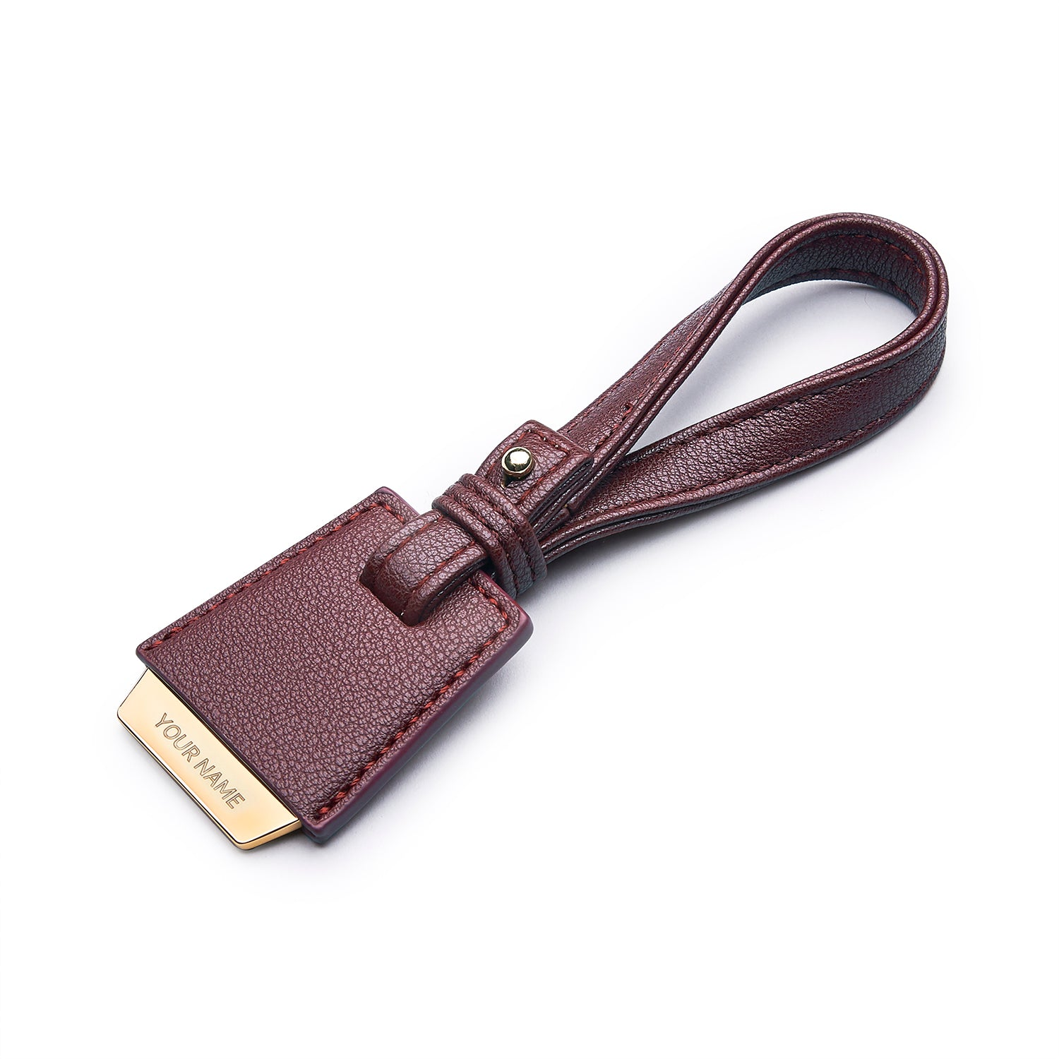 COLEY BAG TAG - MAROON