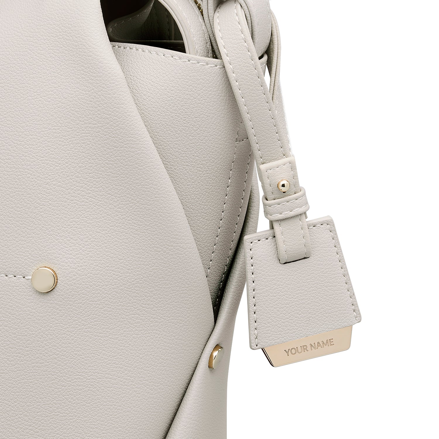 COLEY BAG TAG - BEIGE