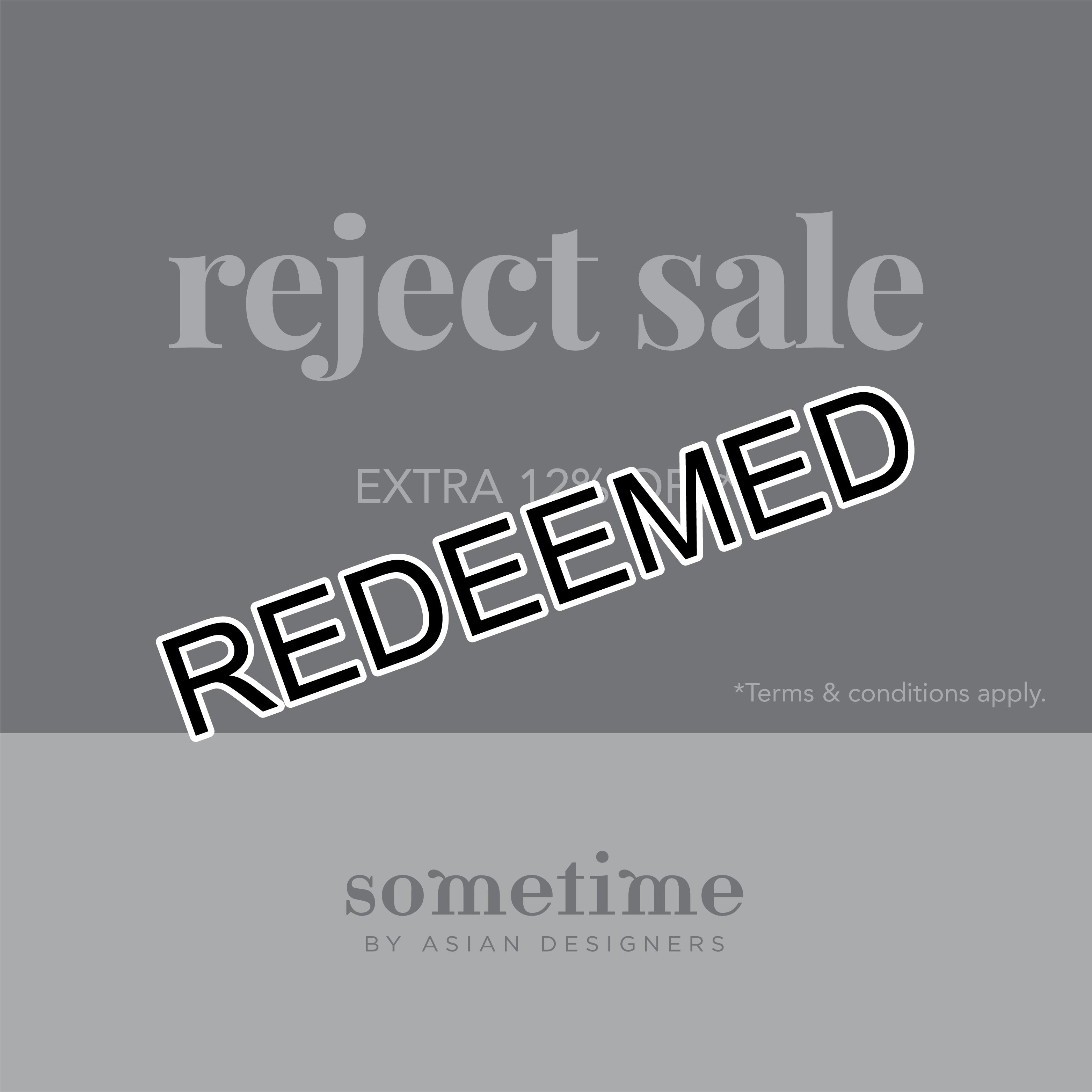 Reject Sale promo code #3