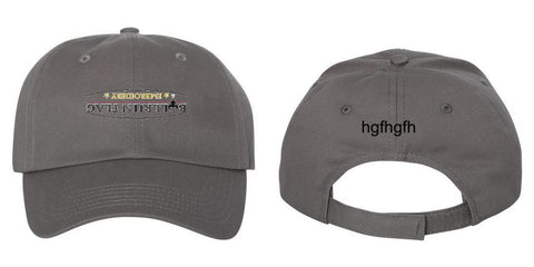 Embroidered Custom Caps Text or Logo 100% Cotton Six Panel Structured Quality Hat Free Shipping