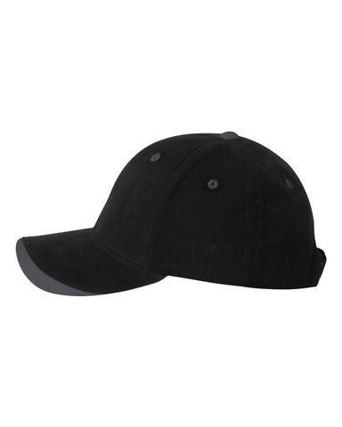 C30 Embroidered Custom Caps Two Tone Black / Charcoal Color Text or Logo No Minimum 100% Cotton Six Panel Structured Quality Hat