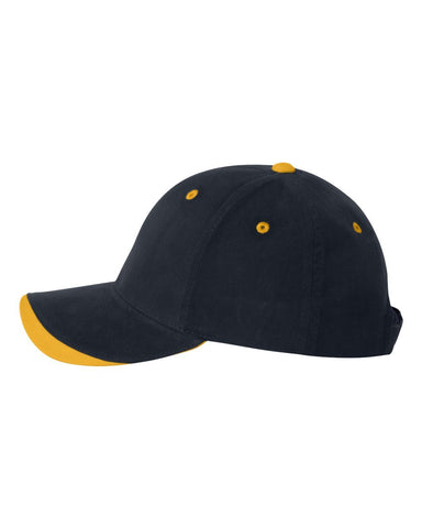 C35 Embroidered Custom Caps Two Tone Navy / Gold Color Text or Logo No Minimum 100% Cotton Six Panel Structured Quality Hat