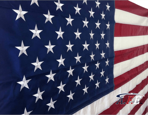 F12 US Flag Embroidered Stars and Sewn Stripes High Quality Heavy Duty USA 10'x15' Ft Nylon American Flag 300 D (Premade)