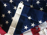 F09 US Flag Embroidered Stars and Sewn Stripes High Quality Heavy Duty USA 5'x8' Ft Nylon American Flag 210 D (Premade)