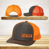 Maga hat back mesh trucker snapback cap lower left Embroidered in many colors