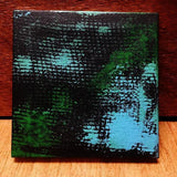 "P26 ""Color leak"" Acrylic Handmade Mini Canvas Painting Fine Art Office Home Decoration Made in USA"