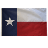 F01 Texas State Flag 3x5 Feet Nylon Embroidered Lone Star Sewn Stripes 2 Brass Grommets American Heavy Duty Outdoor Outdoor 210 D (Premade)