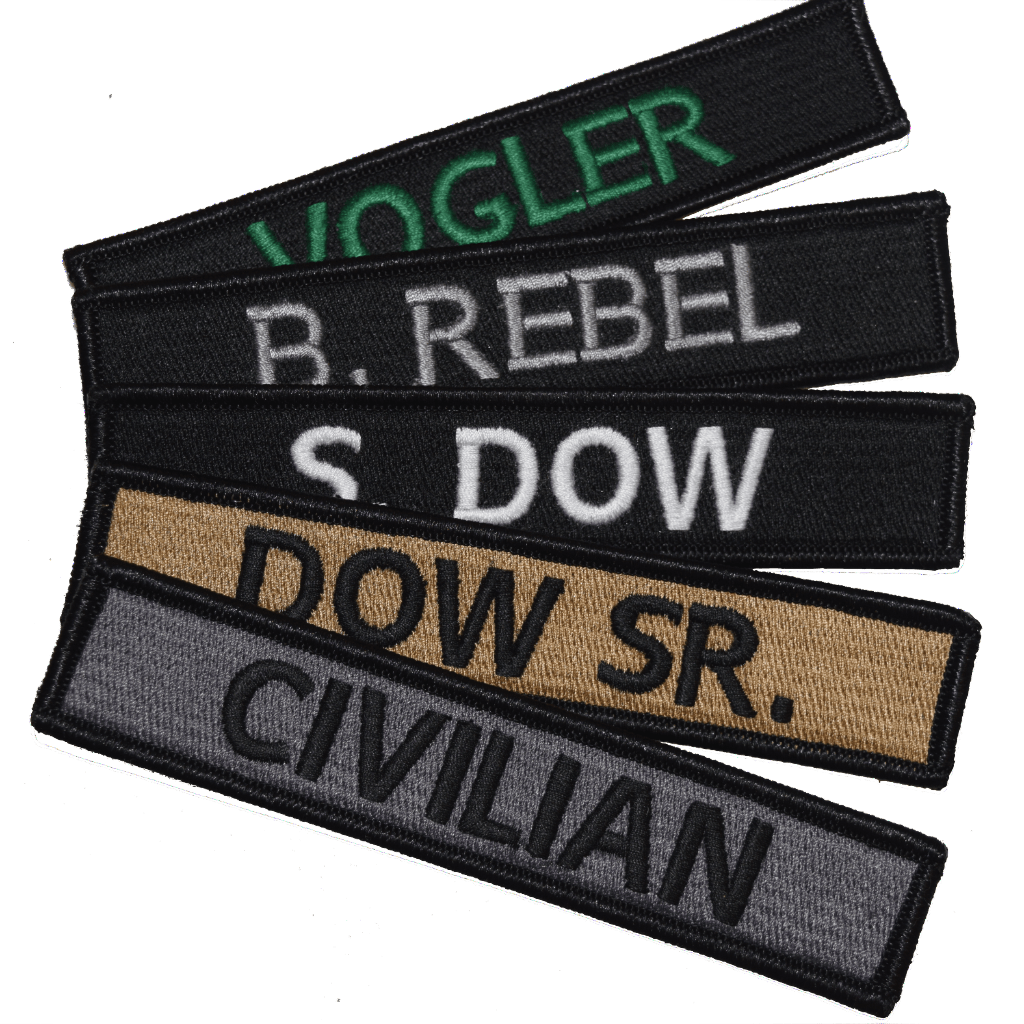 custom military name tape tactical patch 5 inch hook fastener ir bullrun flag embroidery. Black Bedroom Furniture Sets. Home Design Ideas