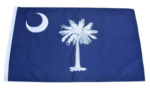 F56 South Carolina State Flag 3'x5' Ft Polyester Wholesale & Bulk Price $2.40