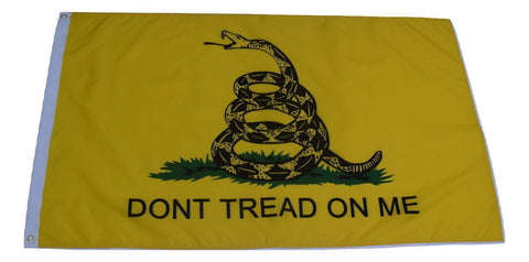F77 Gadsden Flag Don't Tread On Me Yellow color 3'x5' Ft Polyester Wholesale & Bulk Price $2.40