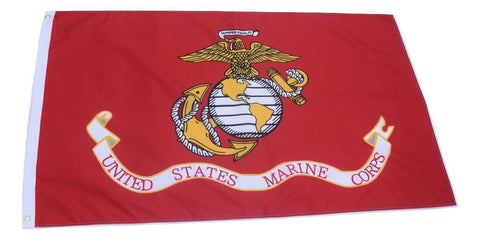 F80 USMC US Marine Corps Flag 3'x5' Ft Polyester Wholesale & Bulk Price $2.40