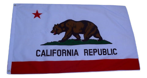 F50 California Republic State Flag 3'x5' Ft Polyester Wholesale & Bulk Price $2.40 (Premade)