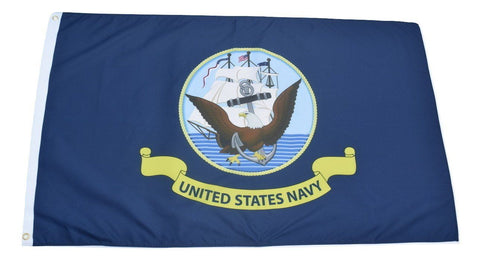F85 US Navy Flag 3'x5' Ft Polyester Wholesale & Bulk Price $2.40