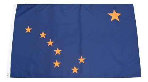 F69 Alaska State Flag 3'x5' Ft Polyester Wholesale & Bulk Price $2.40