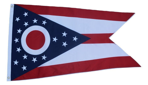 F65 Ohio State Flag 3'x5' Ft Polyester Wholesale & Bulk Price $2.40