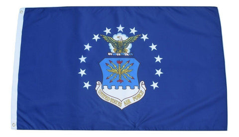F81 US Air Force Flag 3'x5' Ft Polyester Wholesale & Bulk Price $2.40