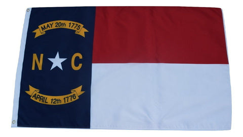 F60 North Carolina State Flag 3'x5' Ft Polyester Wholesale & Bulk Price $2.40