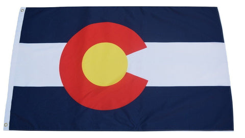 F61 Colorado State Flag 3'x5' Ft Polyester Wholesale & Bulk Price $2.40 (Premade)