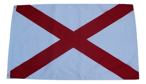 F70 Alabama State Flag 3'x5' Ft Polyester Wholesale & Bulk Price $2.40 (Premade)