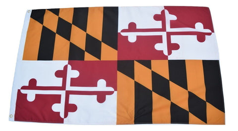 F66 Maryland State Flag 3'x5' Ft Polyester Wholesale & Bulk Price $2.40 (Premade)