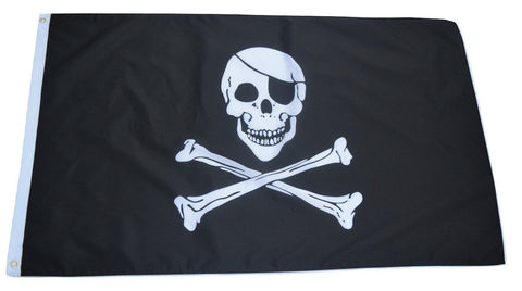 F82 Pirate flag 3'x5' Ft Polyester Wholesale & Bulk Price $2.40 (Premade)