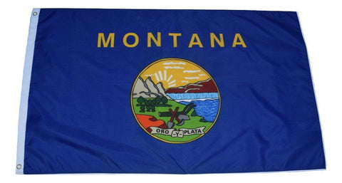 F53 Montana State flag 3'x5' Ft Polyester Wholesale & Bulk Price $2.40