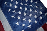 F08 US Flag Embroidered Stars and Sewn Stripes High Quality Heavy Duty USA 4'x6' Ft Nylon American Flag 210 D (Premade)