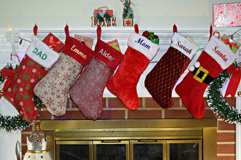 Personalized Christmas Stocking, Custom Christmas Monogrammed Stockings Holiday Stocking Embroidered Stockings