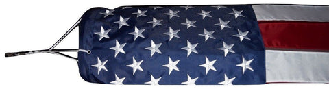 F05 USA Windsock Flag Embroidered Stars Sewn Heavy Wind 210D Nylon 210 D (Premade)