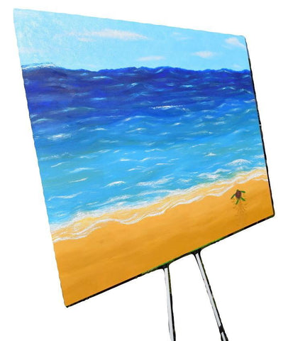 """The Motion Of the Ocean"" Acrylic Handmade Canvas Painting Fine Art Made in USA"