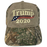 Trump 2020 MAGA Hat Realtree Camo Cap Unstructured Embroidered in USA