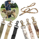 tactical dog leash Bungee Dog Leash camo Military Style padded handle adjustable no pull shock  proof dog leash