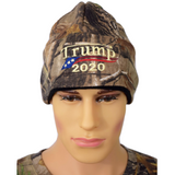 Embroidered in USA Donald Trump 2020 Cap Mossy Oak camo hat with american flag sewn on visor