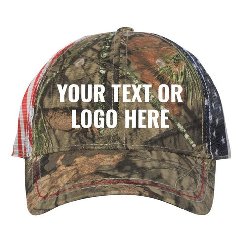 C53 Custom Embroidered Patriotic Camouflage caps with Mesh american flag  Back your text or logo No b88b96a087a3
